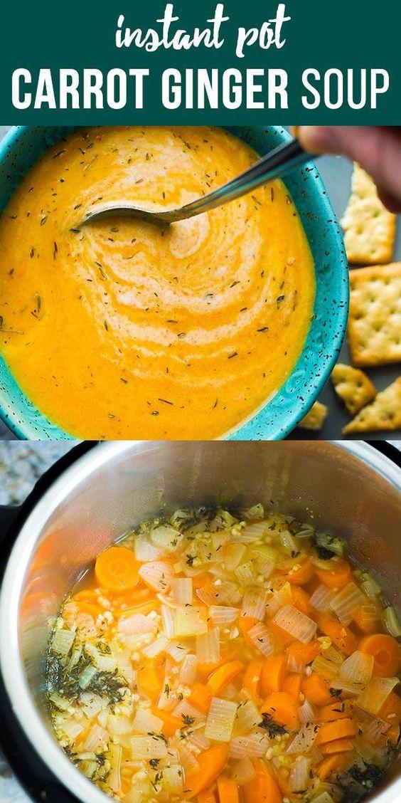Vegan Carrot Ginger Soup (Instant Pot)