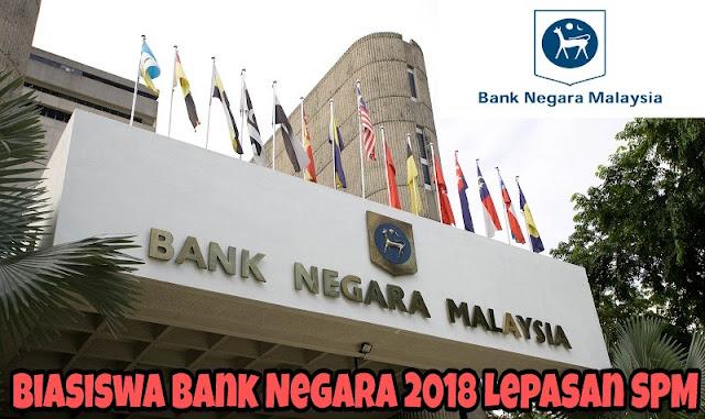 Biasiswa Bank Negara 2018 Lepasan SPM