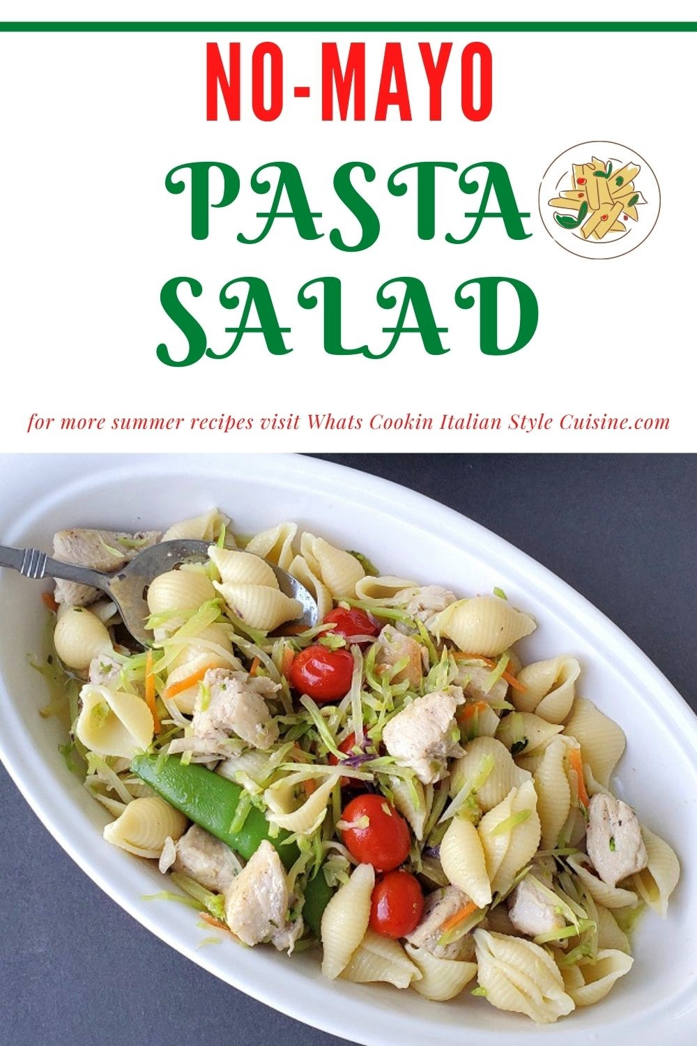 this salad has no mayo and a great salad recipe pin for later