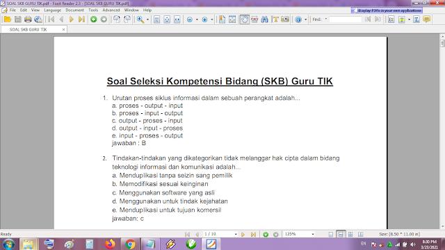 Contoh soal tes P3K/PPPK guru TIK dan kunci jawaban