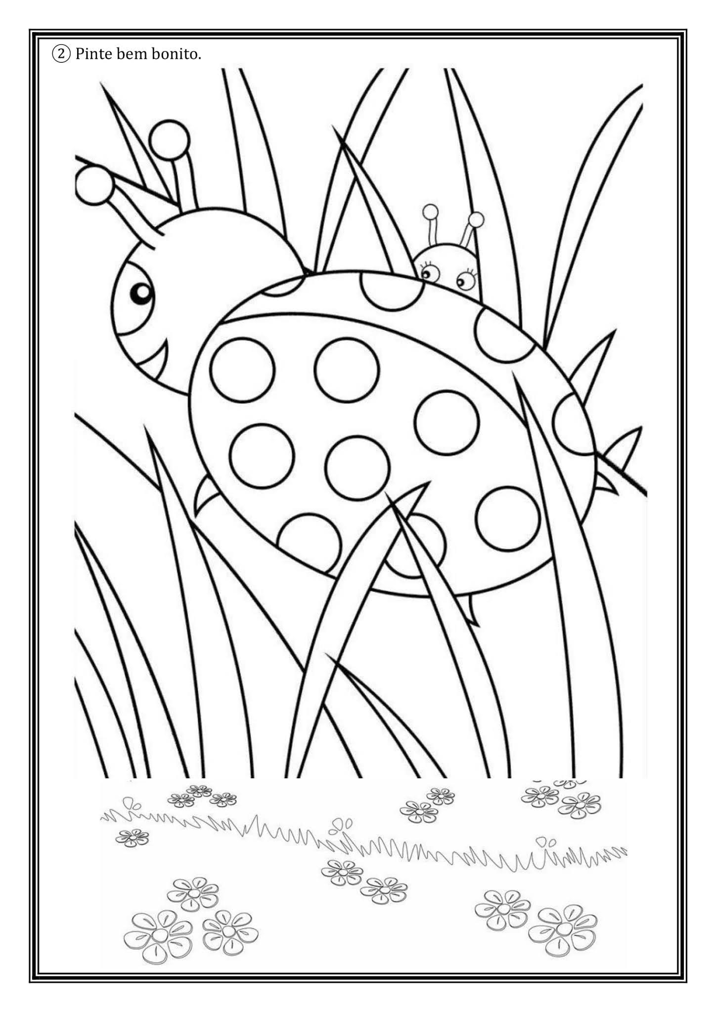Atividade de Artes 2º Ano: colorindo, contornando e colando