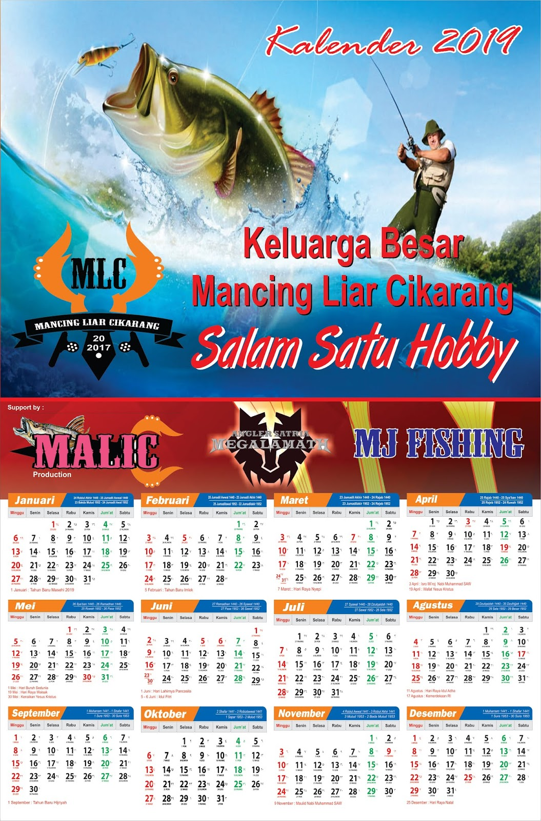 Banner Idul Fitri 2019 Cdr : banner, fitri, Contoh, Kalender, Satuan, Agen87