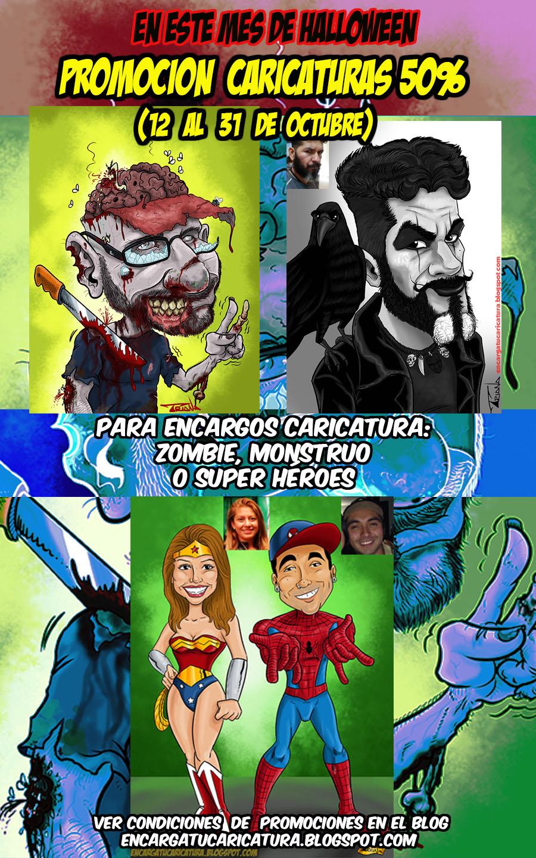 PROMOCIÓN CARICATURAS HALLOWEEN (12- 31 Octubre)