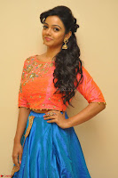 Nithya Shetty in Orange Choli at Kalamandir Foundation 7th anniversary Celebrations ~  Actress Galleries 015.JPG