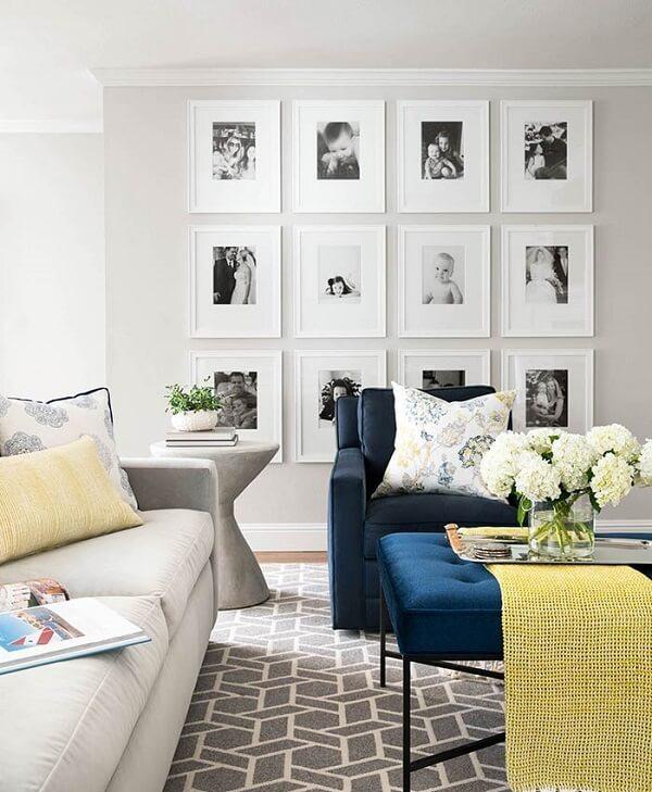 photo frame with white frame for living room