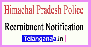 Himachal Pradesh Police Recruitment Notification