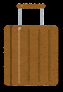 スーツケースのイラスト(茶色)