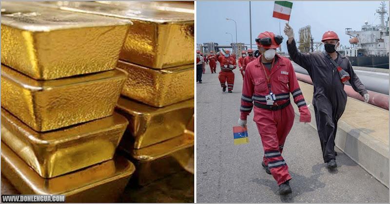 Los 5 buques con gasolina de Irán costaron 9000 kilos de oro venezolano