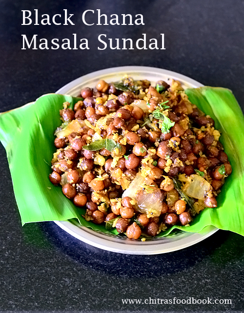 Black chana sundal recipe / Kondakadalai sundal