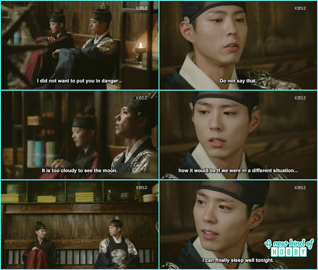 ra on and crown prince talk in the secret room - Love In The Moonlight - Episode 16 Review (Eng Sub) park bo gum & kim you jung