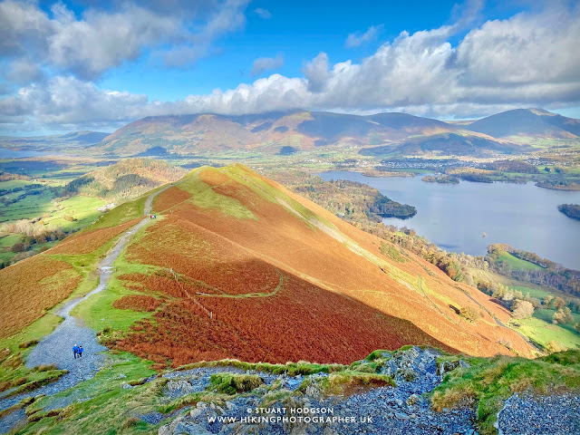 Catbells walk view cat bells keswick Lake District best route map how high summit