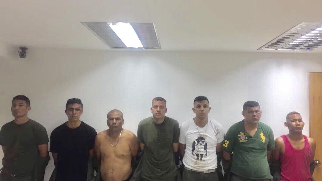 Algunos de los 10 militares detenidos de la 41 brigada blindada de Carabobo