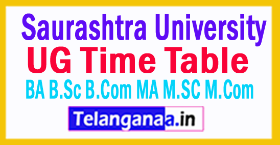 Saurashtra University Time Table 2017 BA B.Sc B.Com MA M.SC M.Com