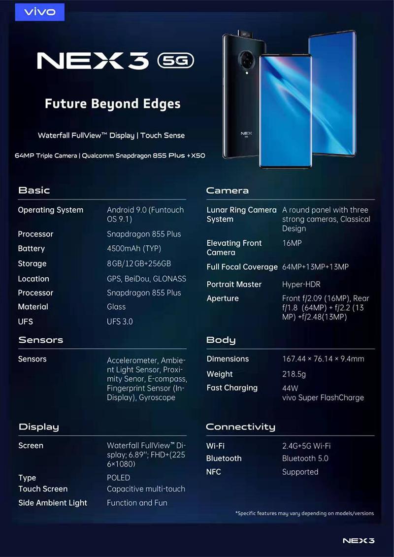 NEX 3 5G full details