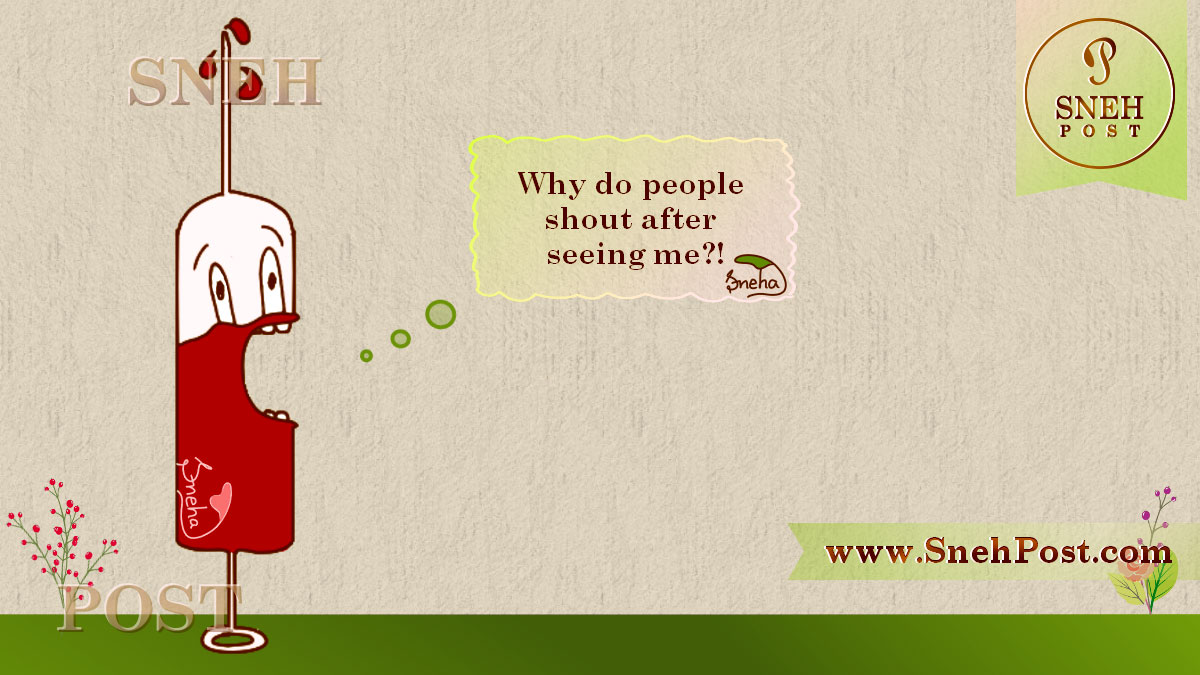 National Blood Donation Day cartoon illustration of injection pain fear