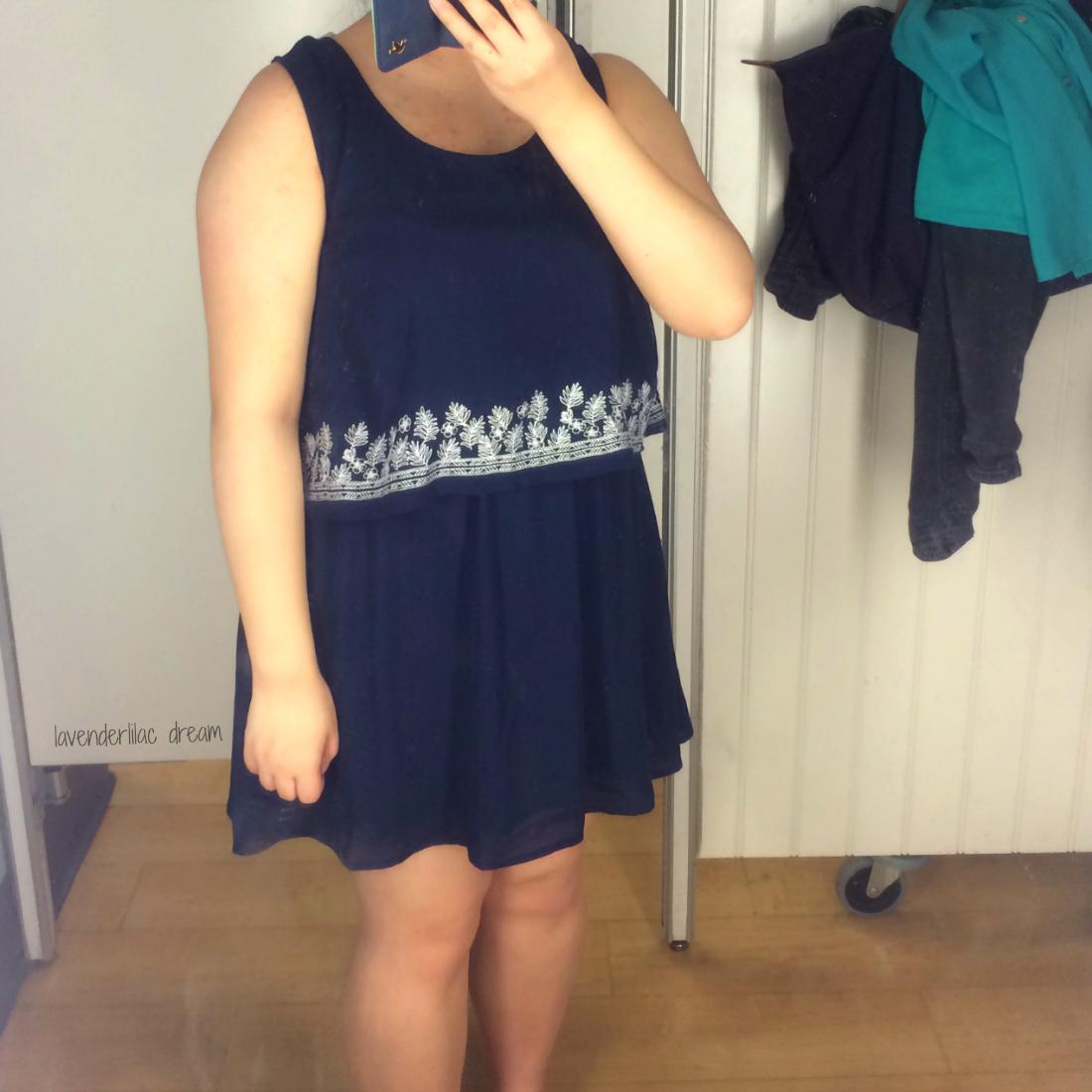 blue dress Marshalls