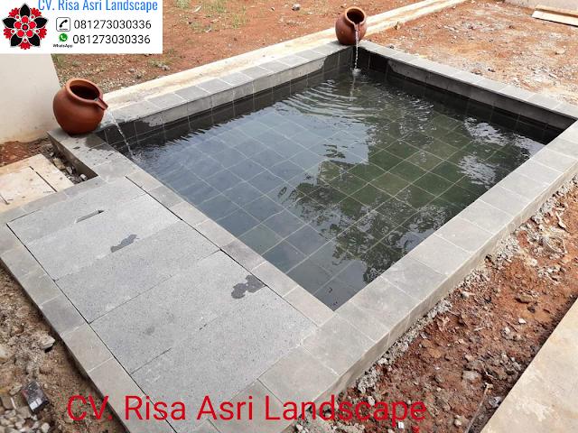 jasa pembuatan kolam minimalis ikan koi, kolam hias, kolam mewah, water wall TUKANG TAMAN SURABAYA - JASA PEMBUATAN PERTAMANAN LANDSCAPE
