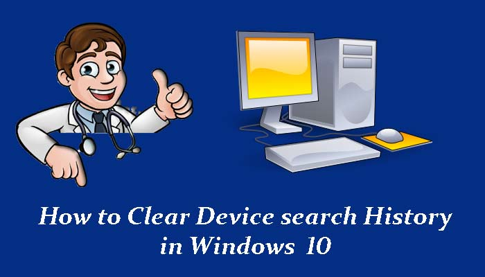 Computer me device search history clear kaise kare