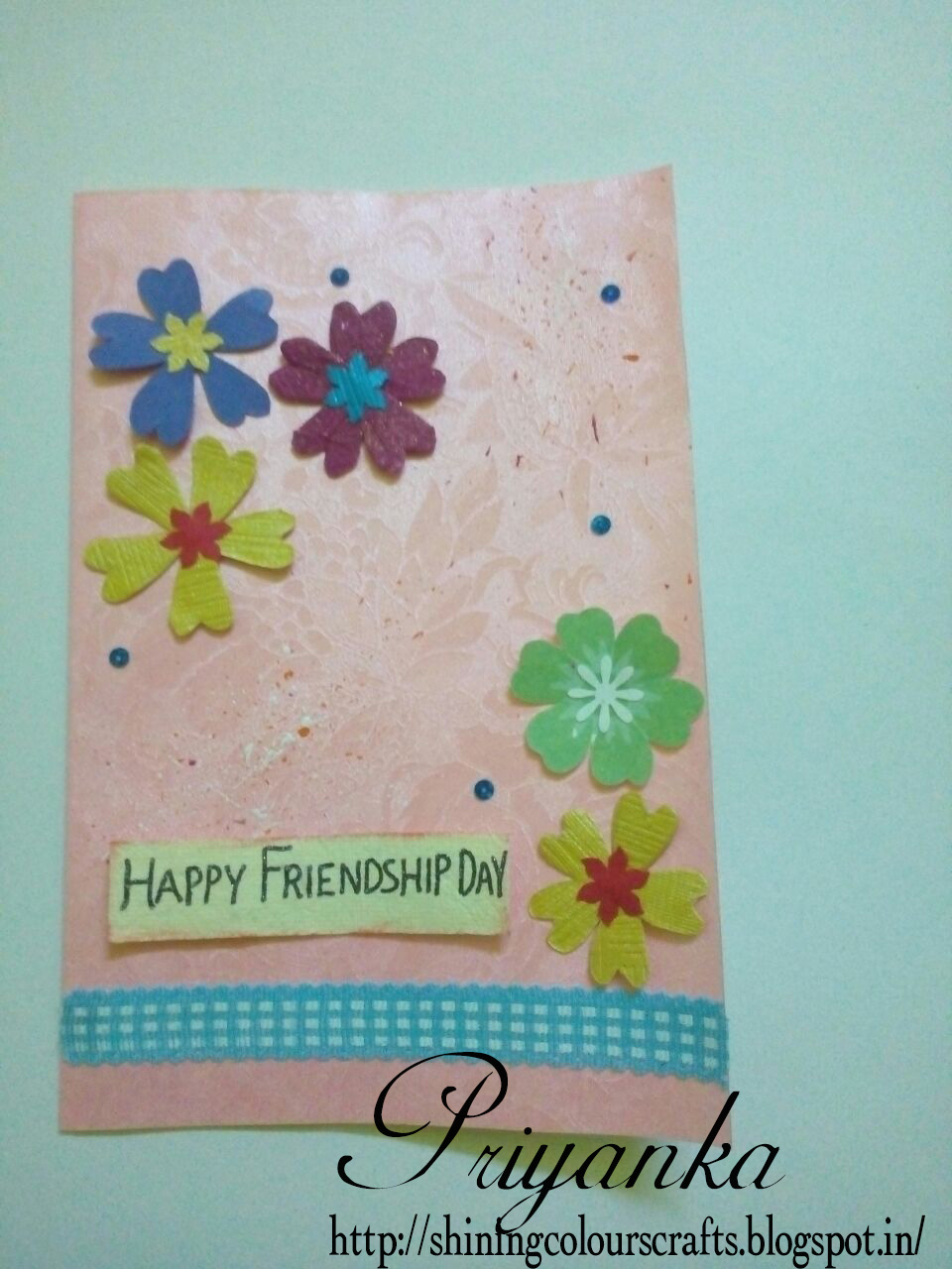 Shining Colours Handmade Crafts Friendship Day Cards