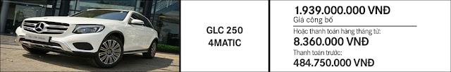 Giá xe Mercedes GLC 250 4MATIC 2017 tại Mercedes Trường Chinh