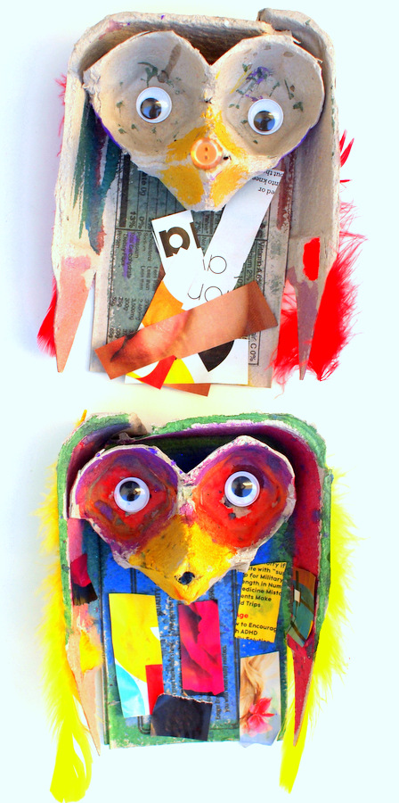 Egg Carton Owls And Owl Picture Books Pink Stripey Socks