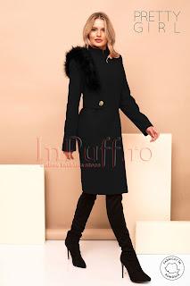 Palton dama Pretty Girl negru