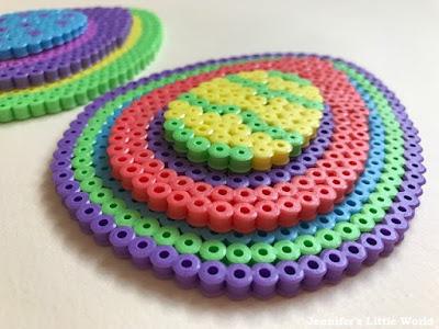 Hama bead layered Easter egg craft