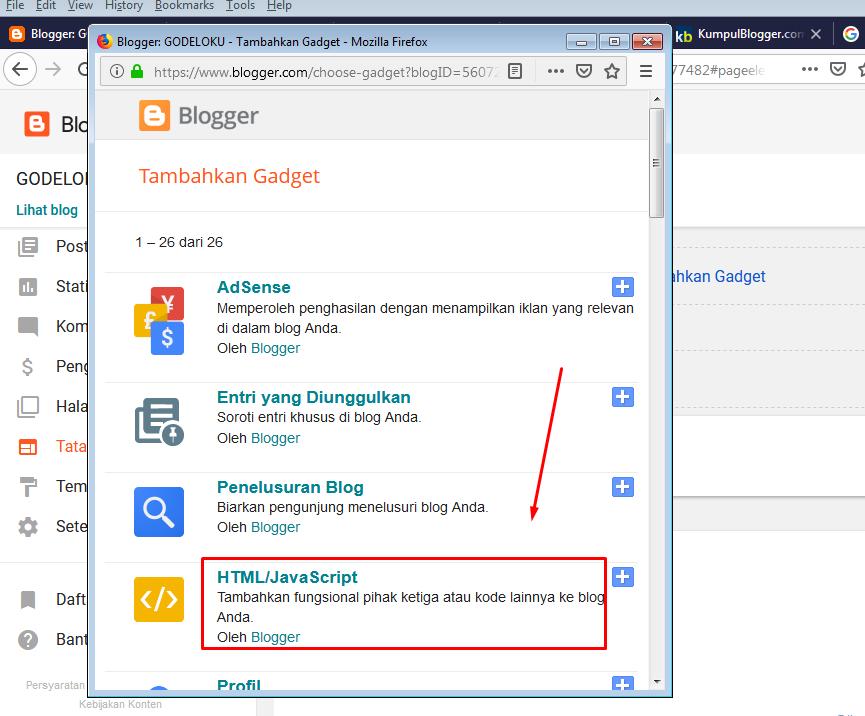 Cara Memasang Iklan Banner Kumpulblogger.Com Di Blog Agar Banyak Klik