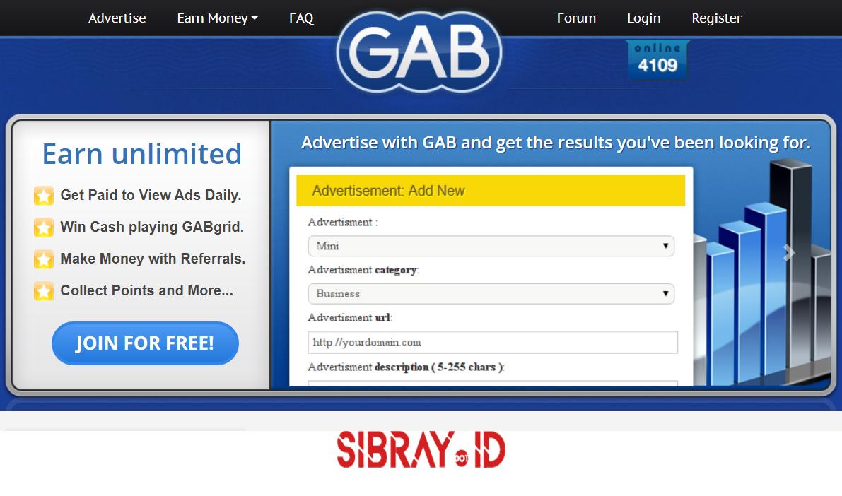Gab.ag, Hasilkan Dollar Hanya Dengan Klik Iklan
