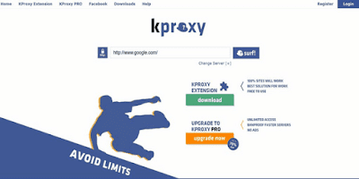 موقع-بروكسي-kProxy