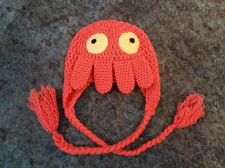 Zoidberg crochet hat