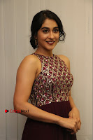Actress Regina Candra Latest Stills in Maroon Long Dress at Saravanan Irukka Bayamaen Movie Success Meet .COM 0016.jpg