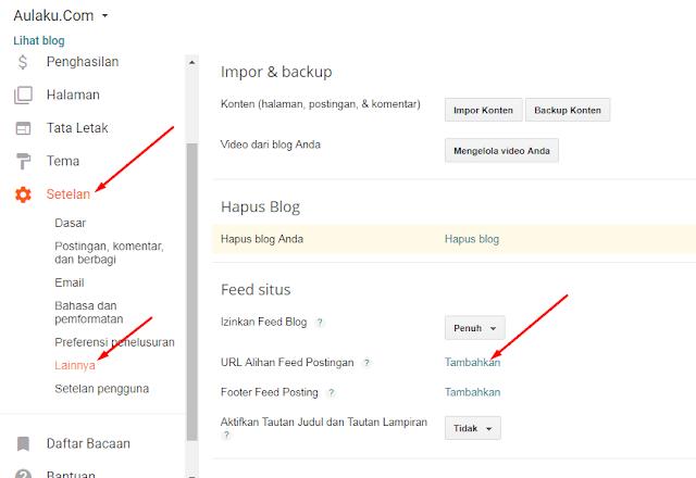 Cara Mendaftar Feedburner Di Blogger