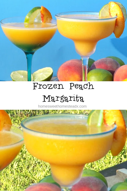 Frozen Peach Margarita - Home Sweet Homestead