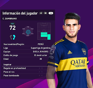 PES 2020 Faces Carlos Zambrano by Black Bird