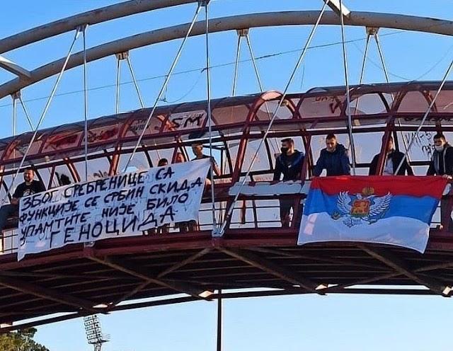 Skandalozan i sraman transparent na skupu podrške Leposaviću