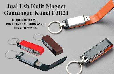 Usb magnet gantungan kunci fdlt20, Flashdisk kulit klasik, USB Flash Drive Kulit Magnet FDLT20, USB Leather souvenir promosi tipe FDLT20, Flashdisk Kulit Klip