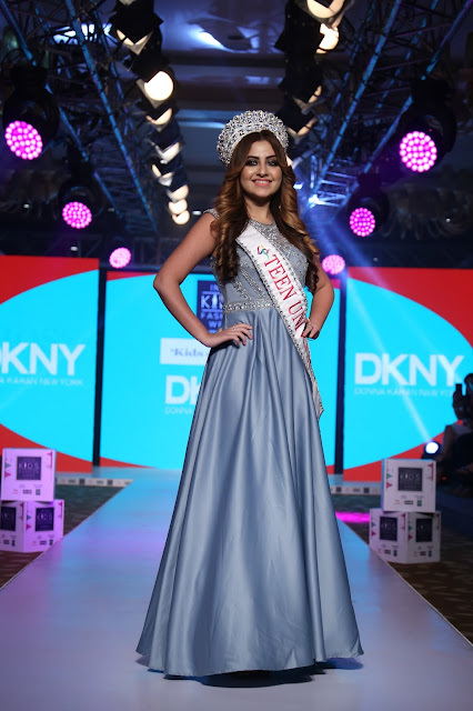 Day-2,Miss Teen Universe - Shirshti Kaur was the showstopper for Kids Around brand at India Kids Fashion Week