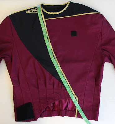 TNG season 1 admiral jacket - front insert