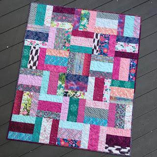 grace and peace fuschia quilt