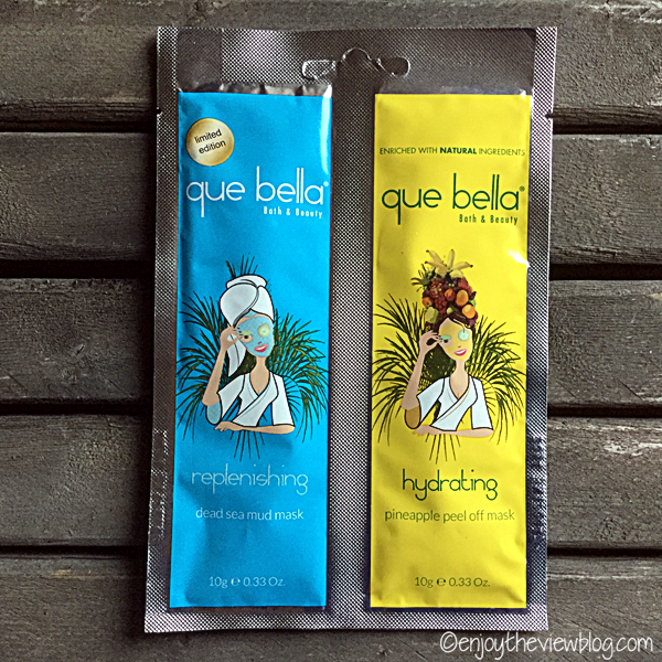 two packets of Que Bella masks