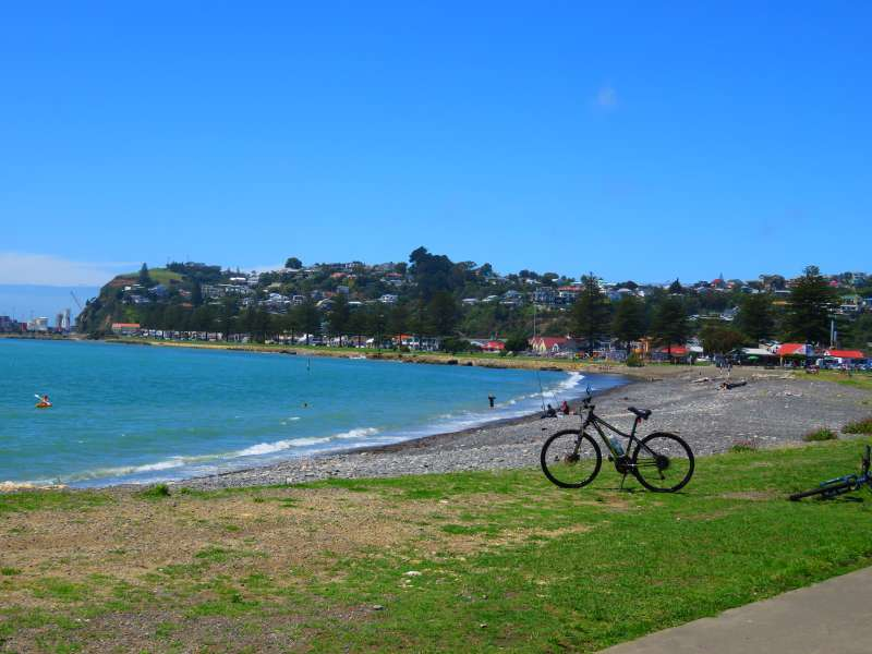 Cycling at Westshore, Hawke's Bay