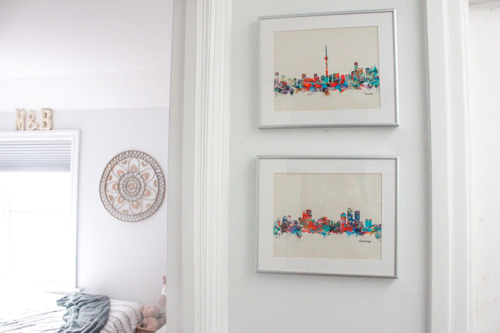 Watercolour Toronto Skyline Wall Art