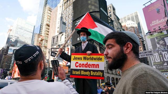 Ribuan Warga AS pro-Palestina berunjuk rasa di berbagai kota di seluruh AS