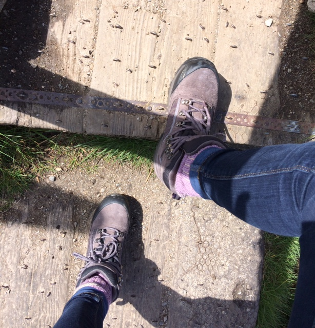 Hiking boots and Camino trails