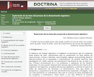 EXPLORACIÓN DE LAS FASES DEL PROCESO DE DICTAMINACIÓN LEGISLATIVA