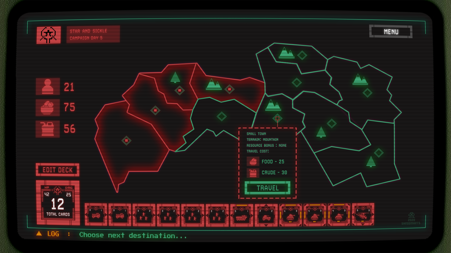 card battle campaign map