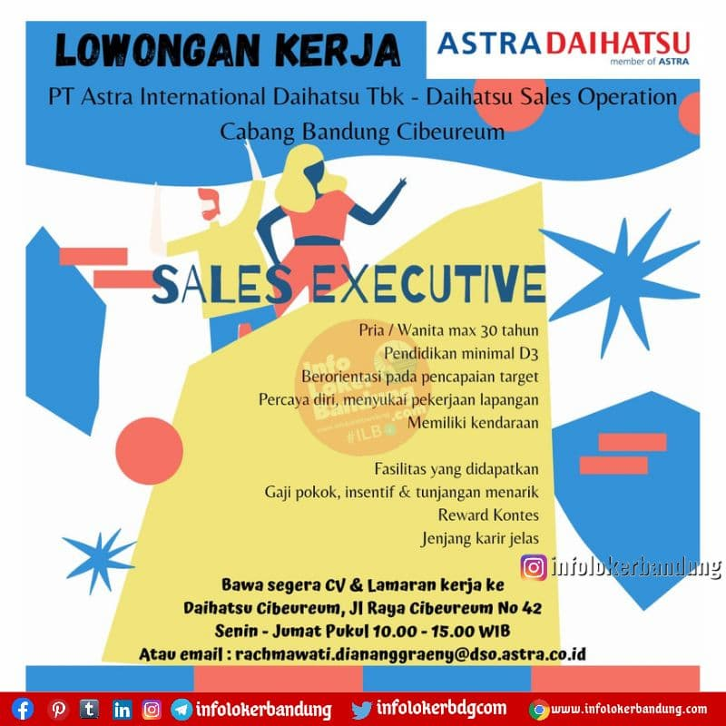 Lowongan Kerja PT. Astra International Daihatsu Tbk-Daihatsu Bandung Juni 2021