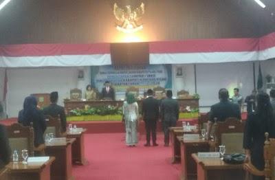 Bersama Wabup, Bupati Hadiri Pengucapan Sumpah Janji Pimpinan DPRD