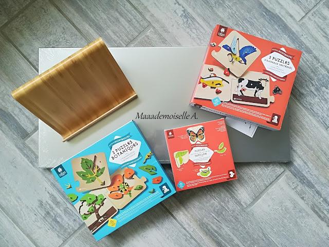 Porte livre, tableau aimanté, Puzzles animaux vertébrés , Puzzles botaniques, Puzzle cycle de vie du papillon